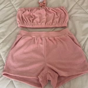 A Jersey velour soft pink set 🌺🌸